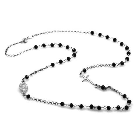 rosario-collana-argento-grani-neri