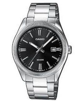 Casio orologio analogico acciaio sfondo nero
