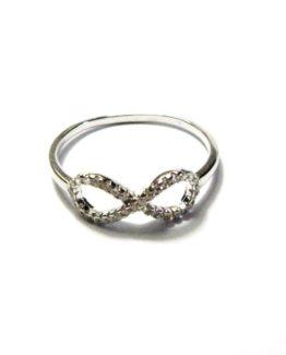 Anello da donna in argento infinito con zirconi