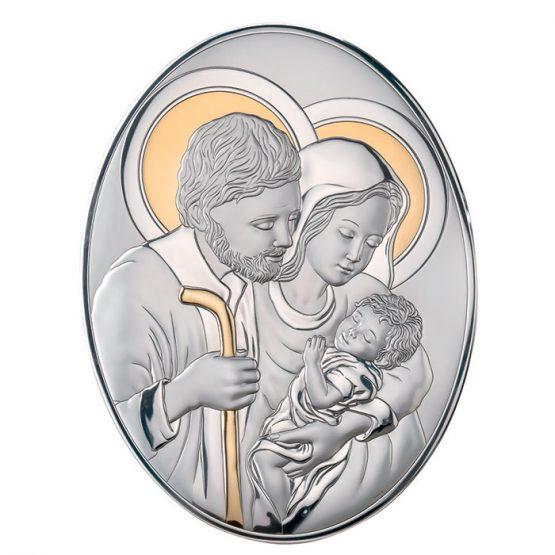icona sacra famiglia valenti argento 925%