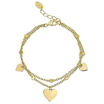 Bracciale Mabina Gioielli Cuori colore oro
