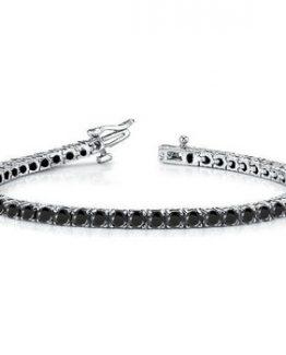 bracciale tennis in argento con zirconi neri