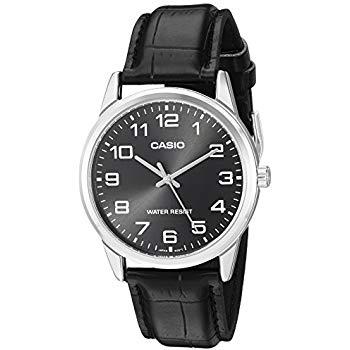 Casio orologio classico da uomo con cinturino in pelle e numeri