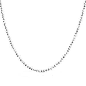 Collana in argento 925 sfere da mm 1