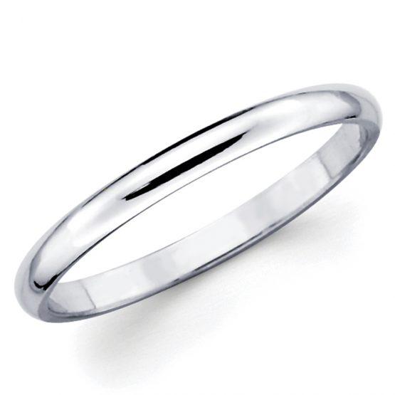 fedina in argento da 4 mm