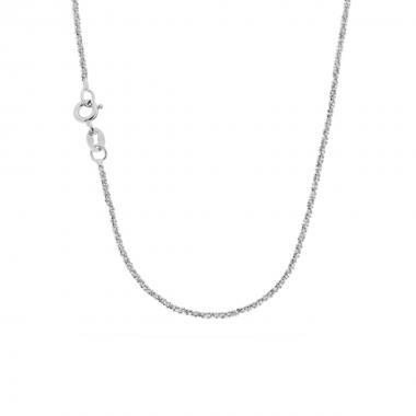 Catena in argento diamantata da cm 45
