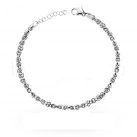 Bracciale in argento 925 con catena lavorazione diamantata