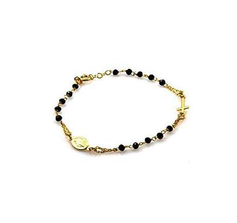 Bracciale rosario in argento 92 colore oro