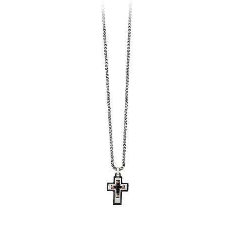 2Jewels collana da uomo con croce colorata 251629