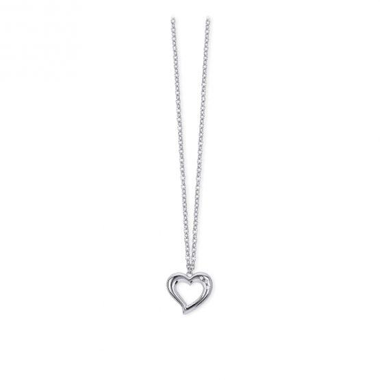 Collana girocollo 2jewels in acciaio 316L con ciondolo cuore e cristali cm 45