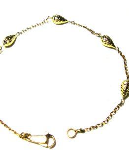 Bracciale in oro giallo 18kt da donna gocce diamantate
