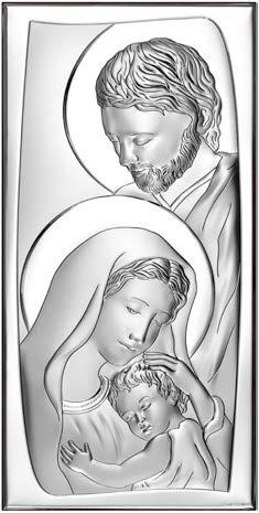 Icona Sacra Famiglia in argento Beltrami Gioielli