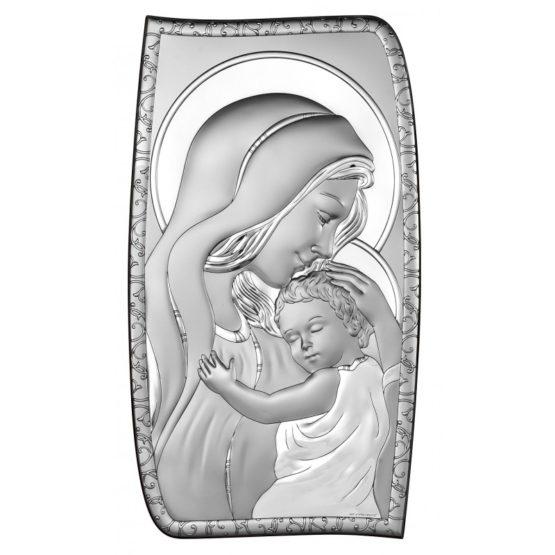 Icona sacra in argento Madonna con bambino Beltrami Gioielli