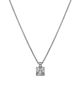 Ciondolo punto luce in argento 925 a 4 griffes