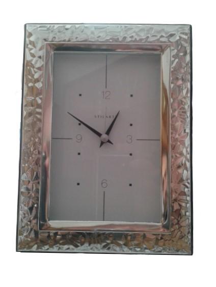 Orologio sveglia da tavolo in argento 925 Pierre Cardin