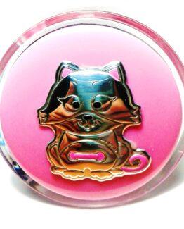 Lampada-da-muro-bimba-in-argento-colore-rosa-gattino