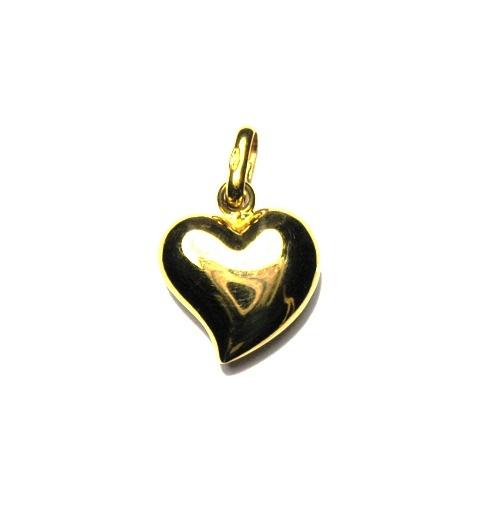 Ciondolo charms cuore in oro giallo 18 kt