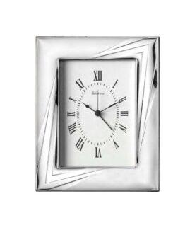 orologio da tavolo sveglia in argento Valenti cm 9x13 codice 52036