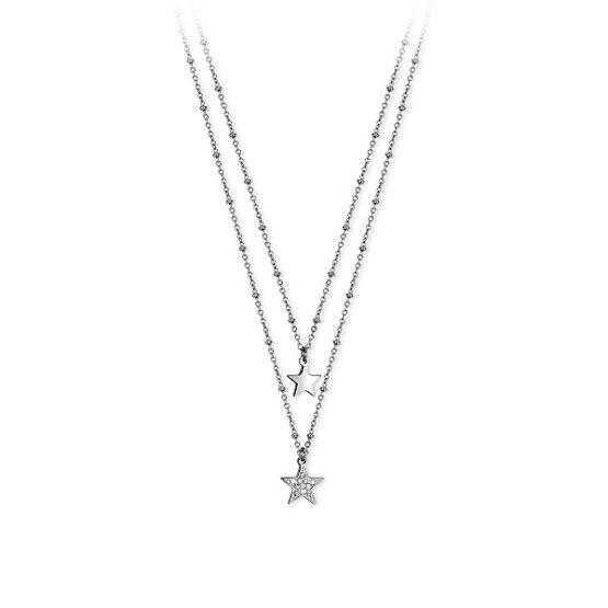 Collana 2Jewels doppia catena con stelle e cristalli 251682