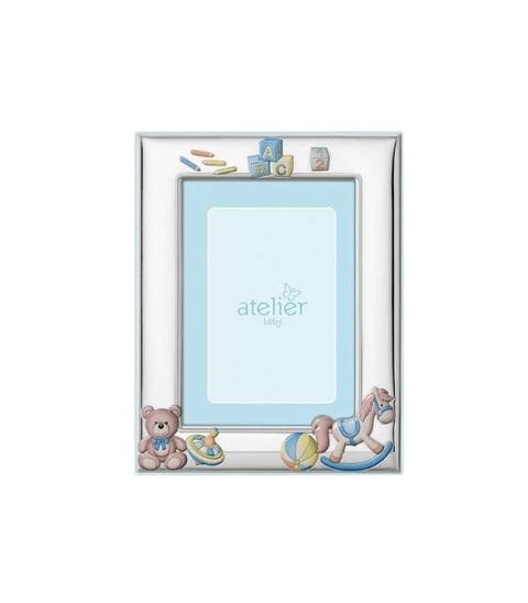 Cornice portafoto in argento per bimbo cm 9x13 Atelier AE0407-9C