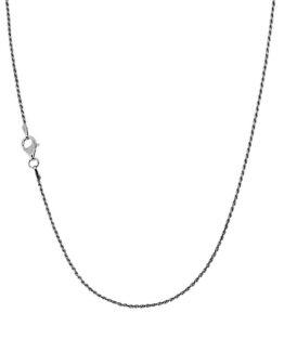 Collana catena in argento corda diamantata da cm 50