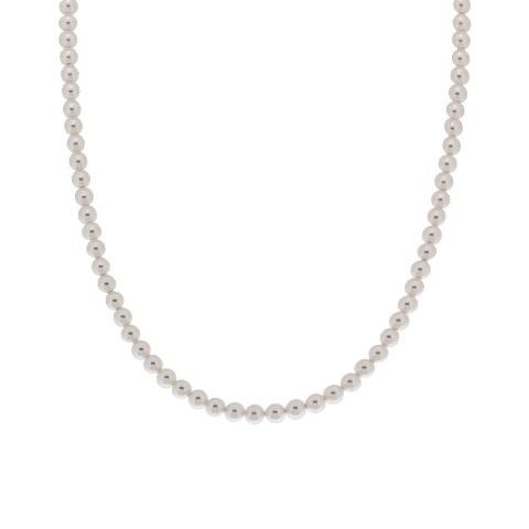 Collana di perle con chiusura in argento cm 45+3